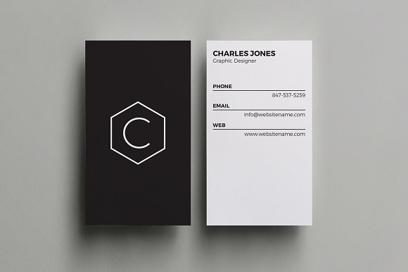minimal business card business card templates creative market. Black Bedroom Furniture Sets. Home Design Ideas