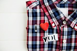 "Letters ""I love You"" on the Shirt"