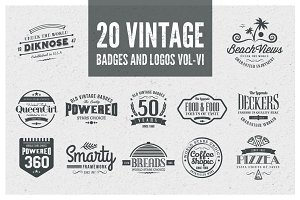 Vintage Badges and Logos Vol-6