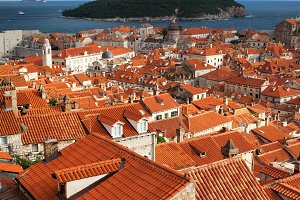 Dubrovnik Houses and Lokrum Island