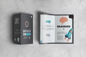 Bifold US Letter Brochure Mock-Ups