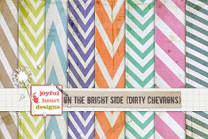 On the Bright Side {dirty chevrons}