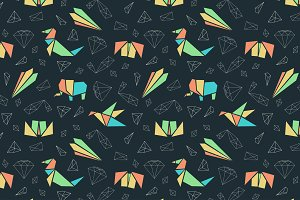 Origami Clipart and Patterns