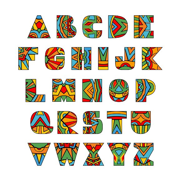 Fiesta ABC Letters Vector Font in Objects - product preview 1