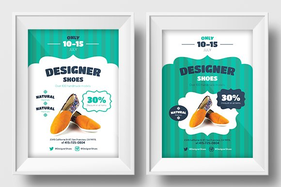 new shoes promo template flyer templates creative market