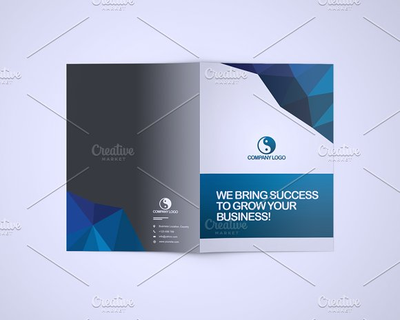 Bluna Company Profile Template Stationery Templates on Creative – Templates for Company Profile