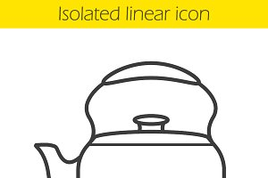 Kettle linear icon. Vector