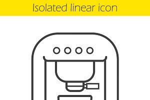 Coffee machine linear icon. Vector