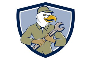 American Bald Eagle Mechanic Crest