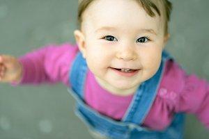 Nice joyful baby