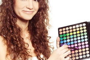 girl  with  eyeshadow palette