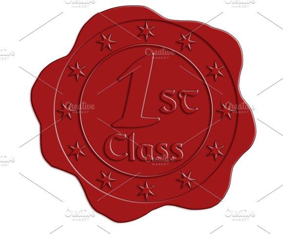 JPG HQ First Class Red Wax Seal