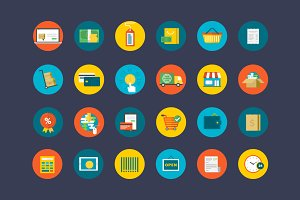 Flat Commerce Icons