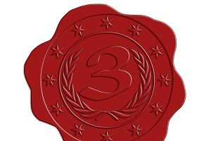 JPG HQ Third Place Red Wax Seal