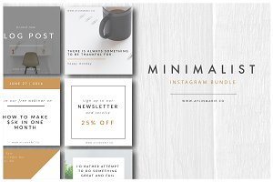 The Blogger - Minimal Instagram Pack