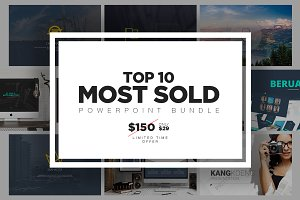 TOP 10 Most Sold PowerPoint Bundle