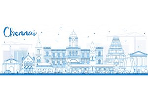 Outline Chennai Skyline