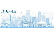 Outline Milwaukee Skyline
