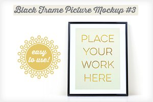 Black Frame Picture Mockup #3