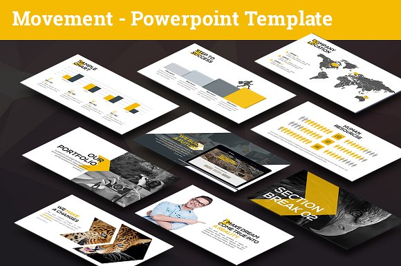 Movement - Swiss Powerpoint-Graphicriver中文最全的素材分享平台