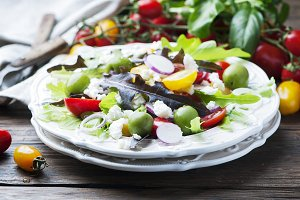 Greek healthy salad