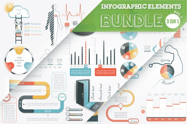 40% OFF Infographic Elements Bundle