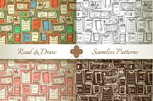 Read & Draw. Seamless Patterns