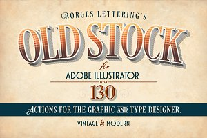 Old Stock-Illustrator Actions