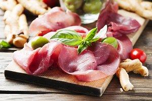 Italian carpaccio of beef