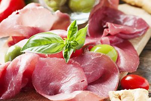 Italian carpaccio of beef