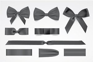 Vector black bows