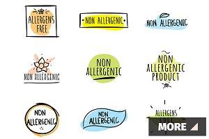 Allergens free. Labels.