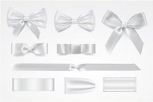 Vector silver bows