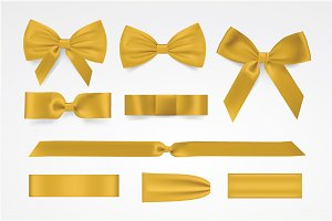 Vector yellow bow