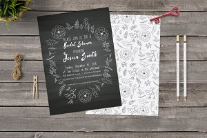 Chlakboard Bridal Shower Invitation