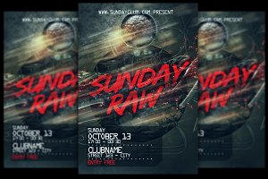 Sunday Raw Flyer + FB Cover