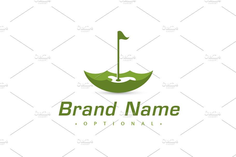Umbrella Golf Course Logo Creative Logo Templates Creative Market
