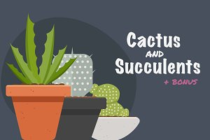Vector illustration cactus