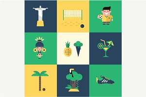 Vector brazil icons