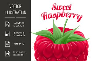 Poster Sweet Raspberry