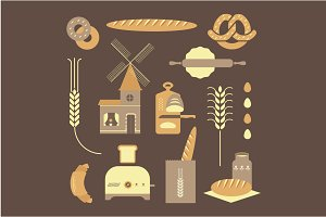 Vector bread icons