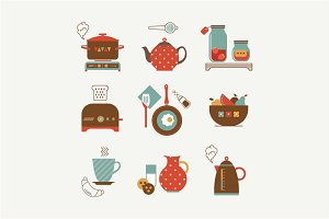 Vector breakfast icons