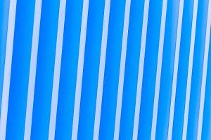 striped metal facade