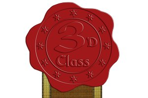 JPG HQ Third Class Wax Seal + Ribbon