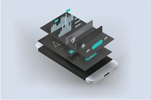Vector smartphone app presentation