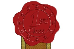 JPG HQ First Class Wax Seal + Ribbon