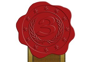 JPG HQ 3D Place Wax Seal + Ribbon