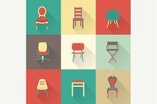 Vector chairs icons