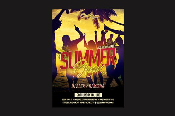 Summer Break Flyer  in Flyer Templates