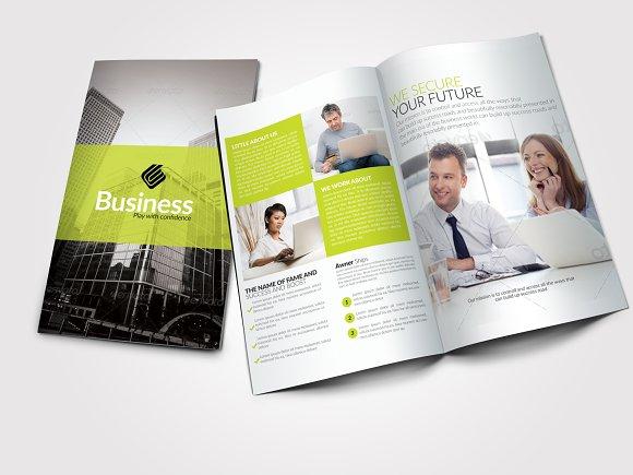 4 pages business bi fold brochure brochure templates creative market